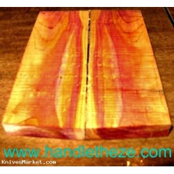 Book Matching Figured Red Cedar Knife Scales Dry (1158)