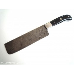 Very Beautiful Damascus steel Chef Cleaver Knife ( HORN HANDLE )